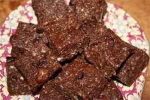 Raw Chocolate Cranberry Fudge Photo