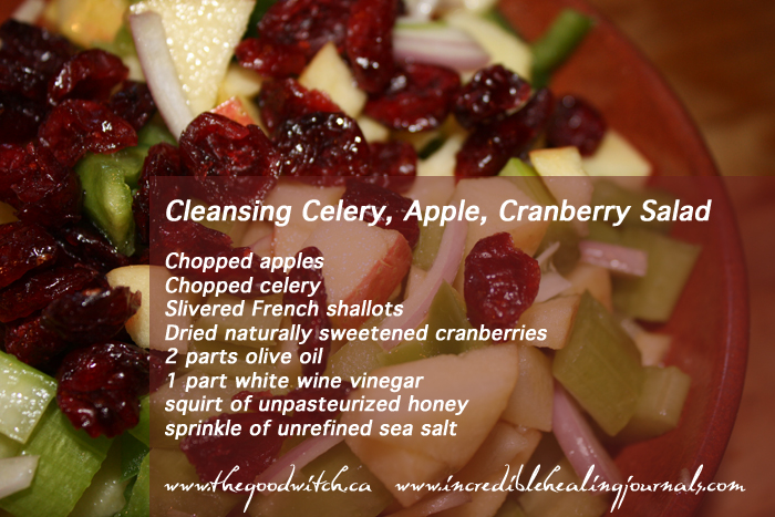 Cleansing Celery Apple Cranberry Salad